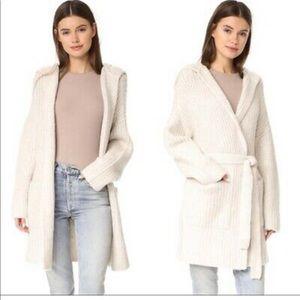 ATM Melillo Cream Wool Long Cardigan